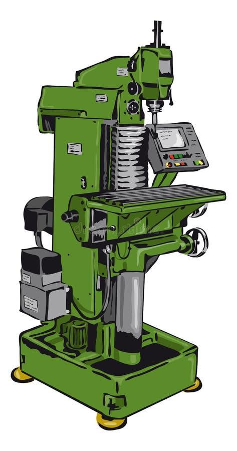 Download Fresadora convencional ilustración del vector. Ilustración de fábrica - 44854071