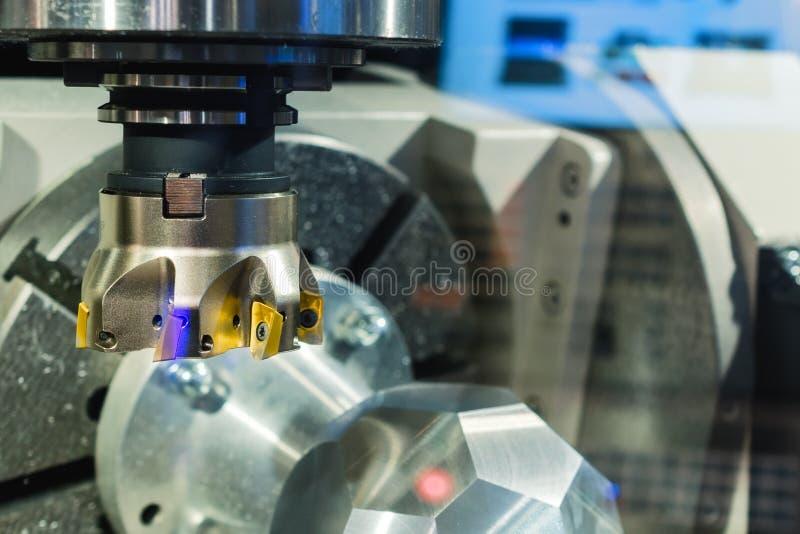 Fresadora de alta precisión moderna del CNC del eje imagenes de archivo