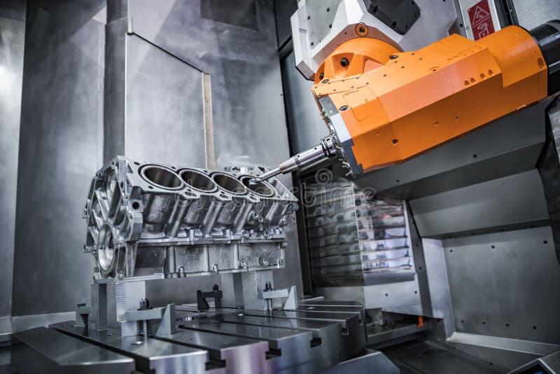 Fresadora metalúrgica del CNC imágenes de archivo libres de regalías