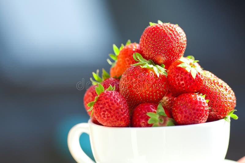 Fresas en un tazón de fuente fotografía de archivo libre de regalías