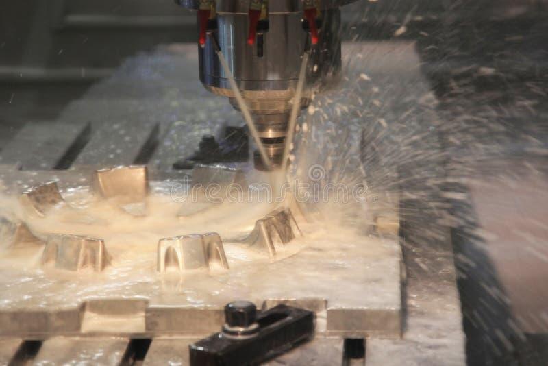 Fresatrice di CNC fotografie stock libere da diritti