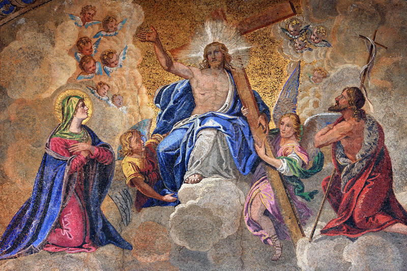 Download Fresco stock image. Image of entrance, church, christianity - 13252717
