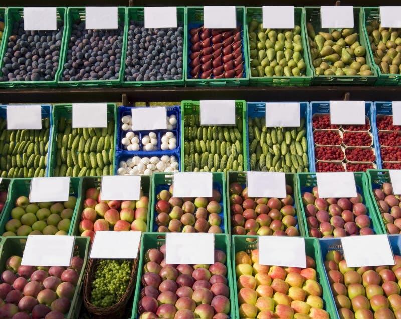Fresco & saudável - frutas & vegetais fotografia de stock