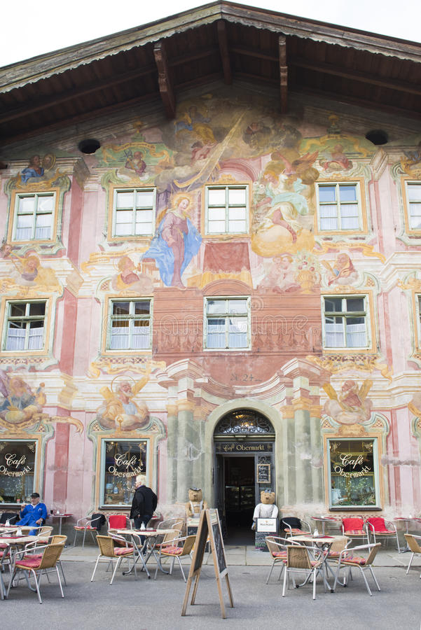 Fresco on Bavarian Cafe royalty free stock photos