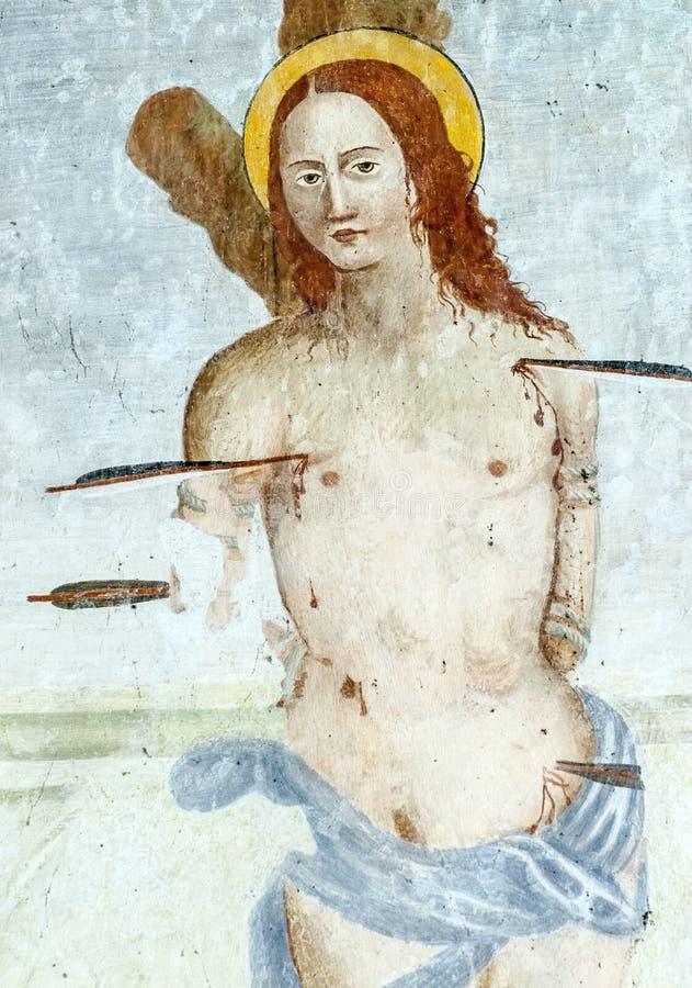 Download Fresco In The Church Of San Vincenzo Al Furlo Stock Image - Image: 28668805