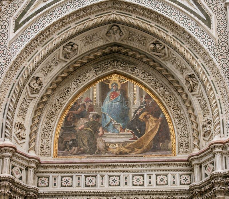 Fresco de Florence Cathedral imágenes de archivo libres de regalías