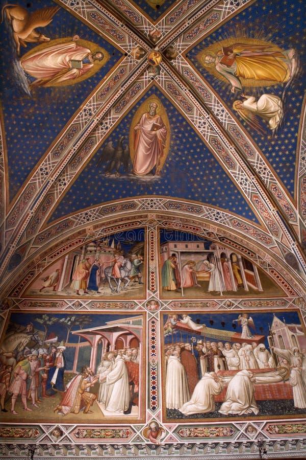Fresco de la iglesia de Florencia fotografía de archivo