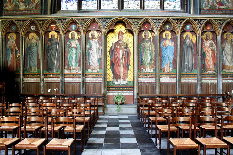 Fresco de los santos de St Louis Cathedral fotos de archivo libres de regalías