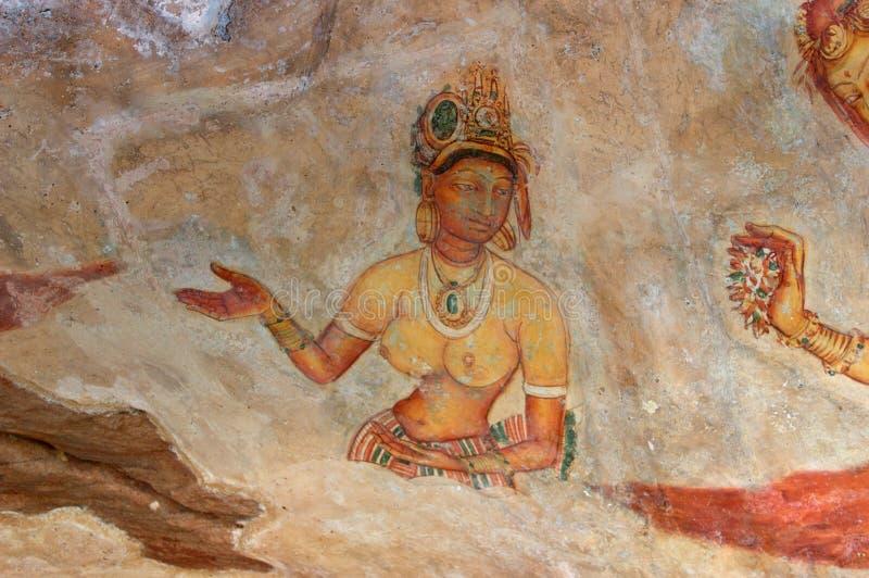 Fresco de Sigiriya fotos de stock royalty free