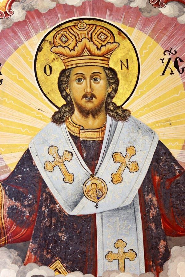 Fresco do Jesus Cristo imagem de stock royalty free