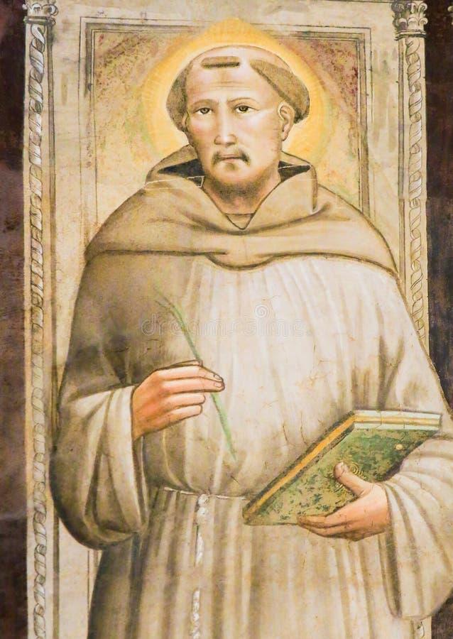 Fresco do renascimento de St Francis em Santa Croce, Florença fotos de stock