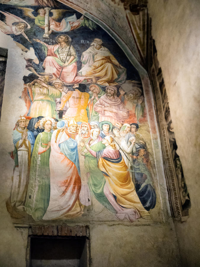 Fresco in the duomo in Pistoia, Tuscany royalty free stock images