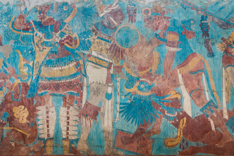 Fresco encontrados nas ruínas foto de stock