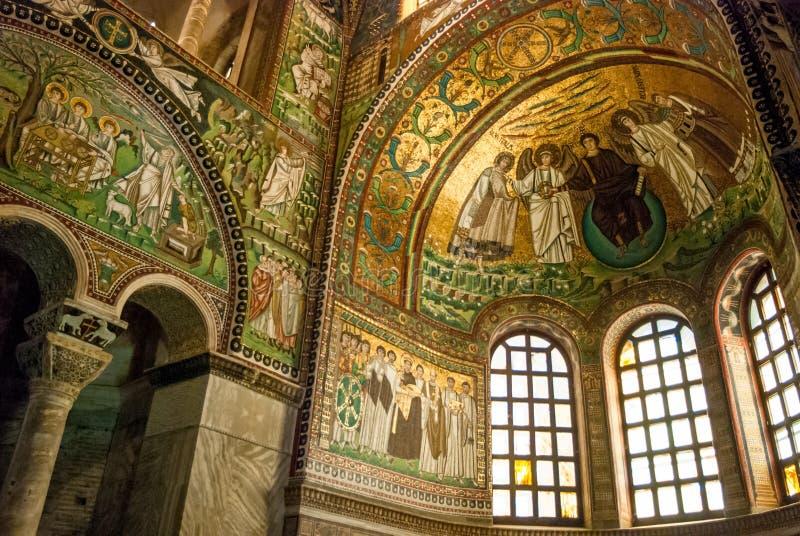 Fresco Mosaics in Ravenna royalty free stock photography