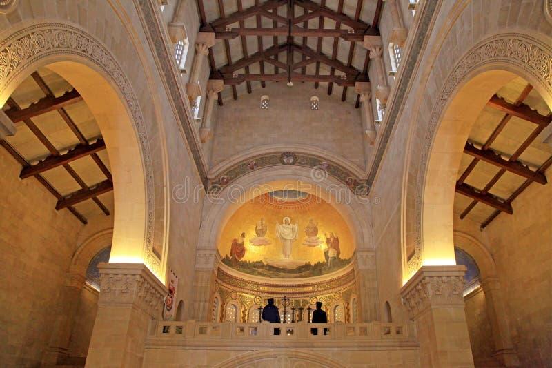Fresco na igreja da transfiguração, montagem Tabor, Galilee, Israel imagem de stock royalty free
