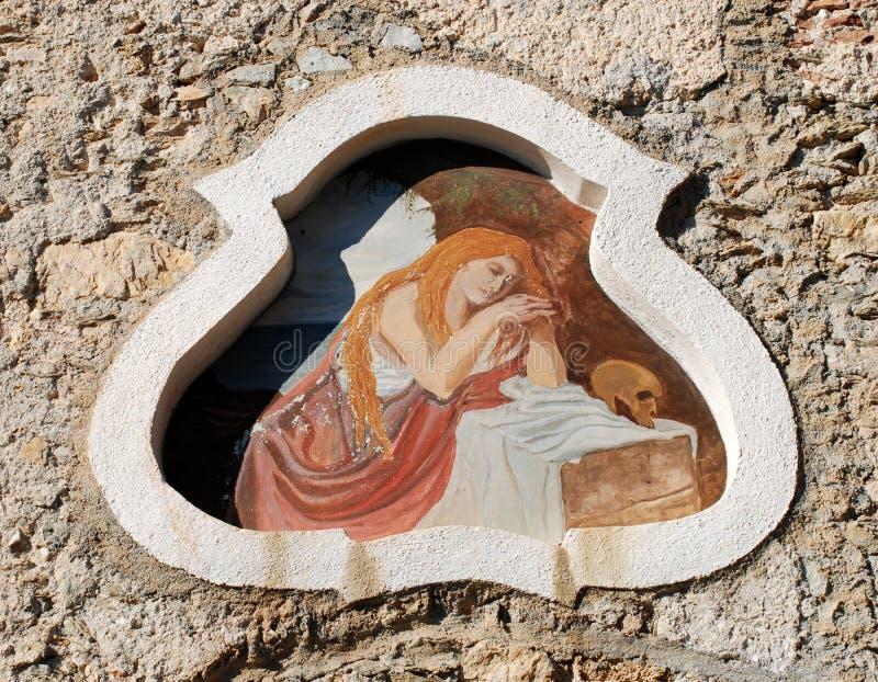 Fresco na parede velha imagem de stock royalty free