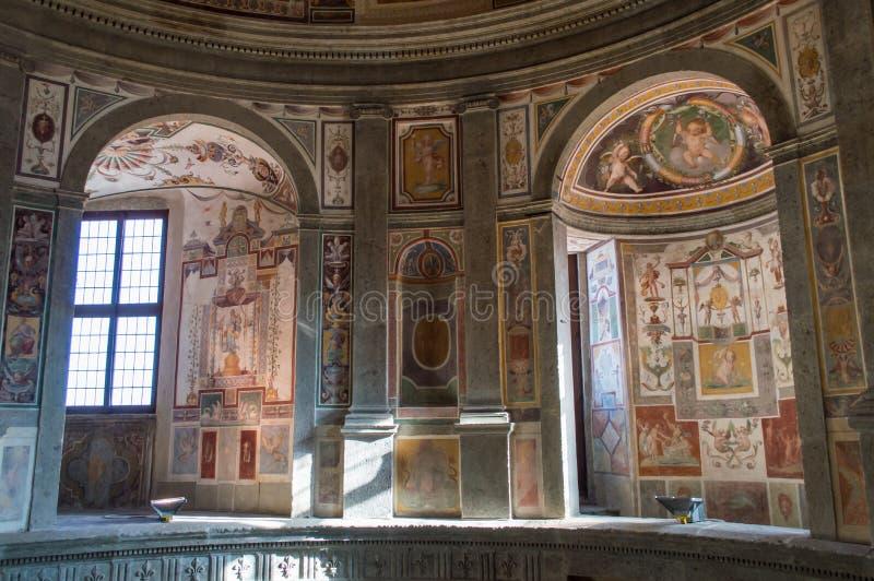 Fresco no palácio de Farnese, Caprarola, Itália imagem de stock