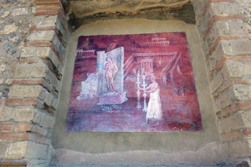 Fresco no Templo de Isis imagens de stock royalty free