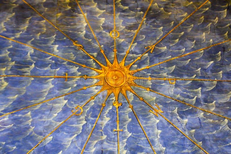 Fresco nos museus do Vaticano, Vaticano foto de stock