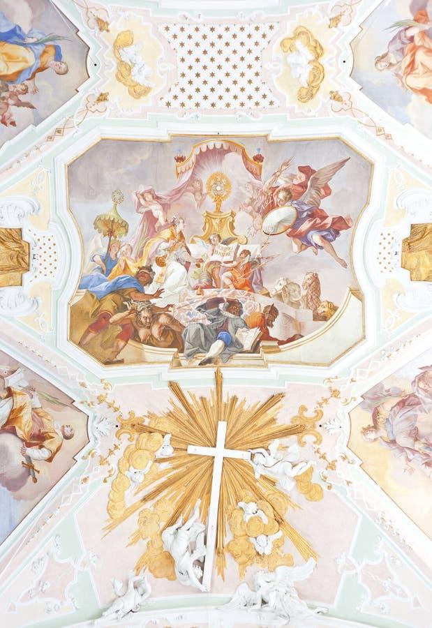 Download Fresco ochsenhausen stock image. Image of gold, ancient - 16188763