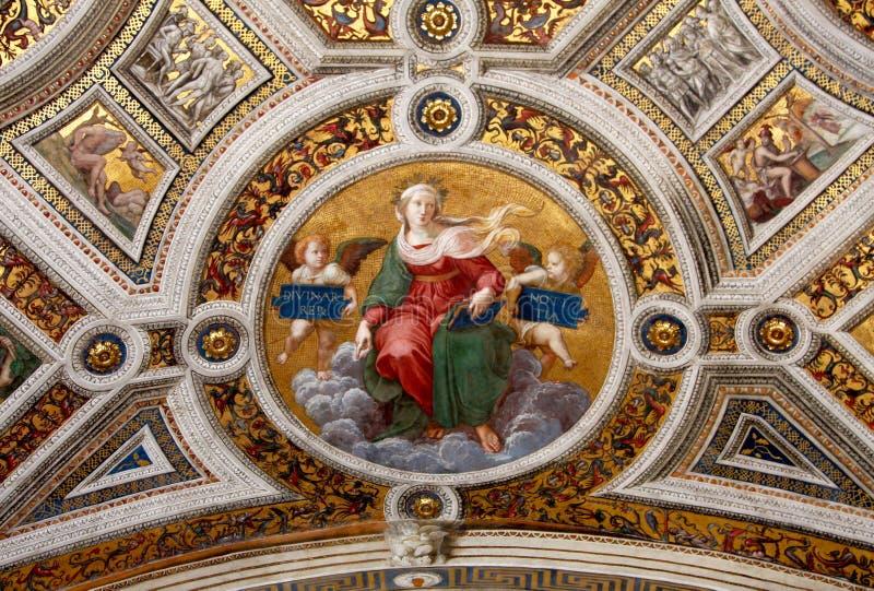 Fresco of Raphael, stanza 3 stock image