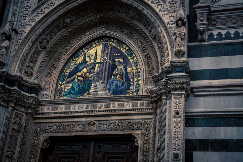 Fresco religioso Florencia fotografía de archivo libre de regalías