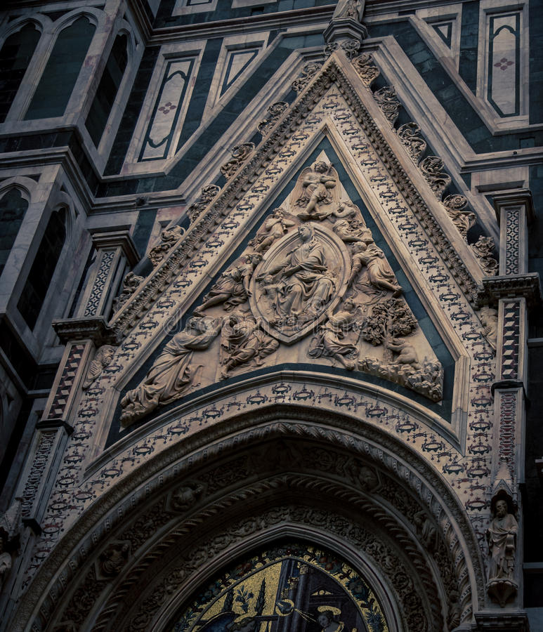 Fresco religioso Florencia fotografía de archivo