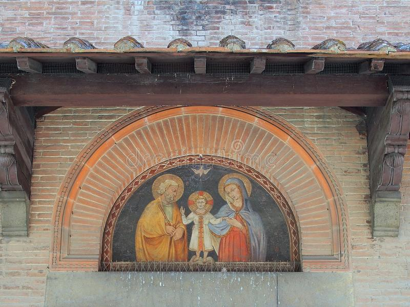 Fresco religioso, Pisa, Italia fotografía de archivo