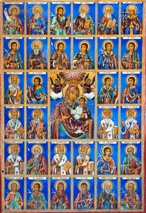 Fresco at Rila Monastery royalty free stock photo