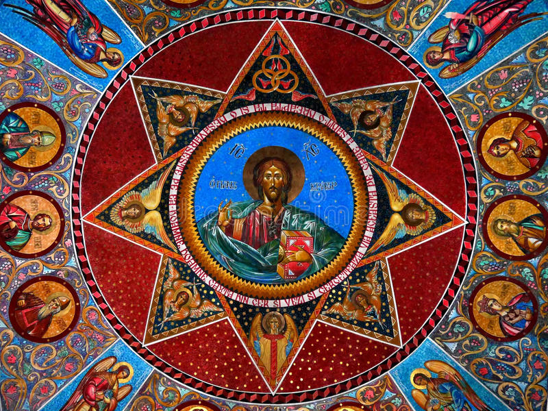 Frescoe di Cristo fotografie stock libere da diritti