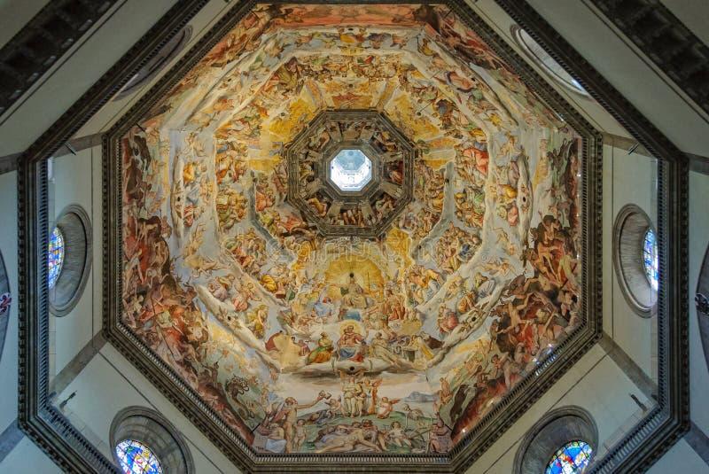 Frescoes kopuła Duomo - Florencja obrazy royalty free
