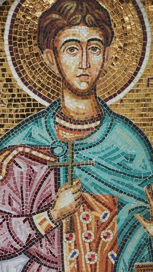 Frescoes na Cypr wizerunek Święty mężczyzna obraz stock