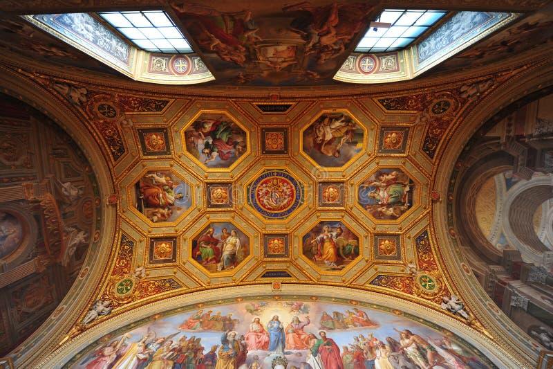 frescoes podsufitowy muzeum Vatican zdjęcie stock