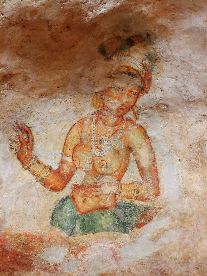 Frescoes at Sigiriya. Sri Lanka royalty free stock photography