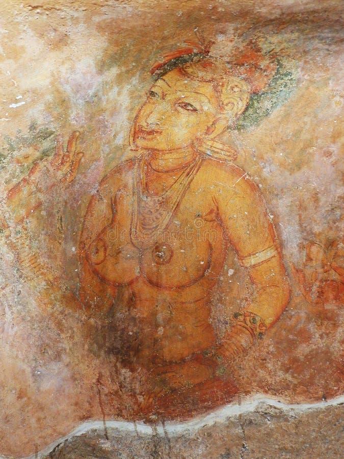 Frescoes at Sigiriya. Sri Lanka royalty free stock images