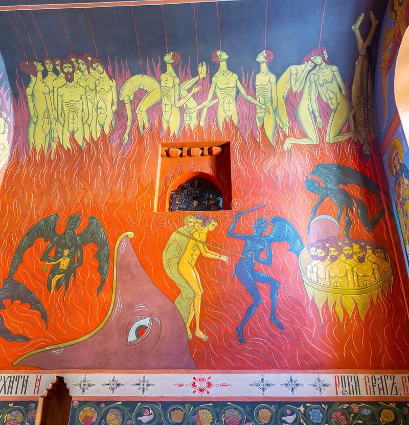 Frescos asustadizos del infierno fotografía de archivo libre de regalías