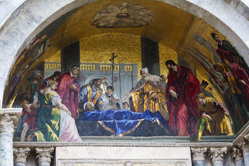 Frescos. Basílica de San Marcos. Venecia, Italia fotografía de archivo libre de regalías