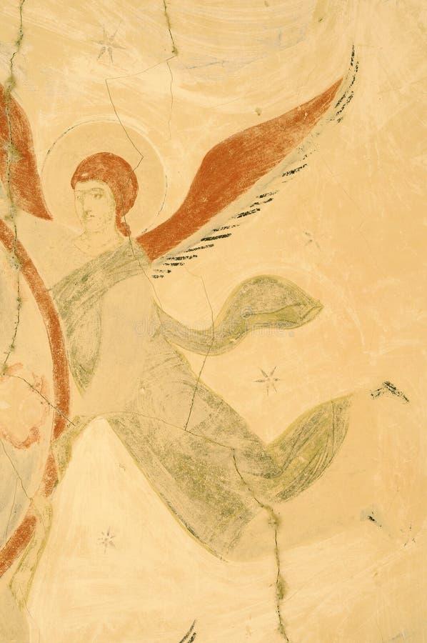 Frescos de la supervivencia del complejo monástico de David Gareja fotografía de archivo libre de regalías