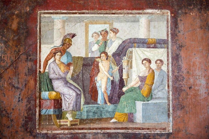 Frescos en Pompeya, región del Campania, Italia imagen de archivo libre de regalías