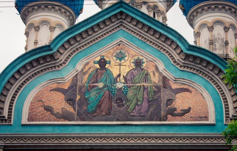 Frescos religiosos foto de archivo