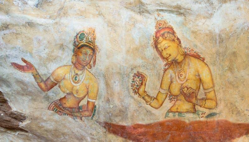 Frescos Sigiriya foto de archivo libre de regalías