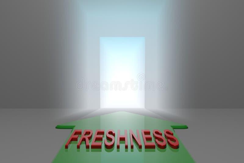 Frescura a la puerta abierta libre illustration