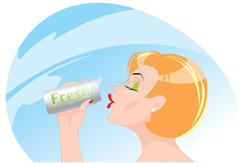Download Fresh stock vector. Image of thirsty, vacations, satisfaction - 25469898