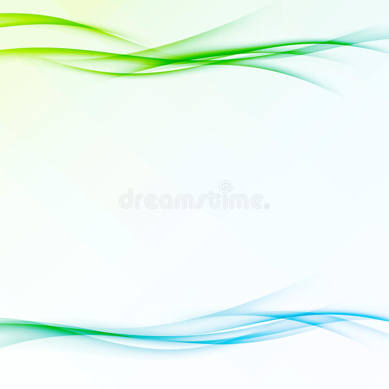 Fresh abstract modernistic spring swoosh wave vector illustration