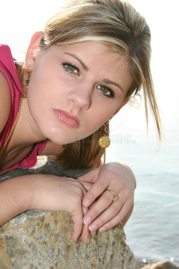 Download Fresh Air stock image. Image of river, lake, girl, female - 519649
