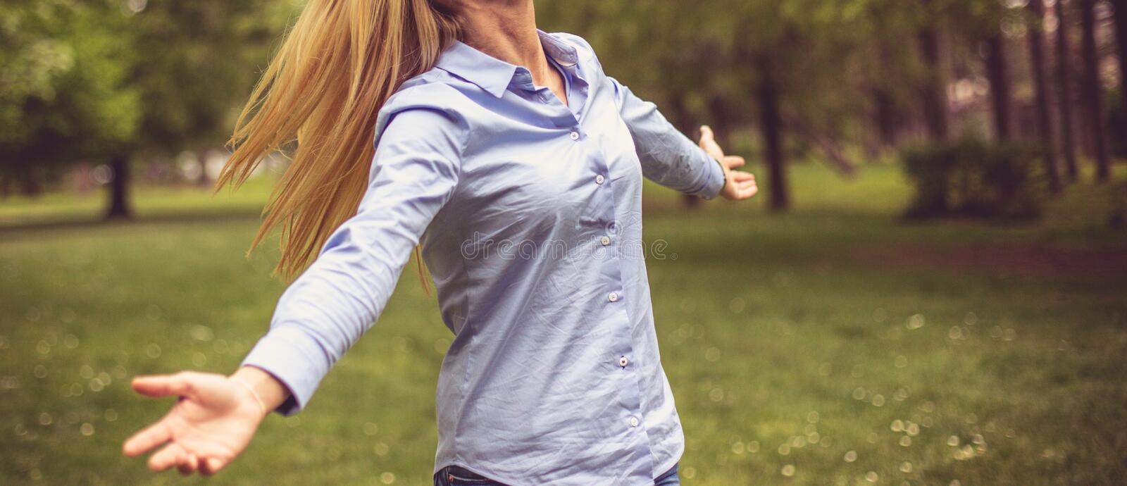 Fresh air and beauty of nature. royalty free stock images