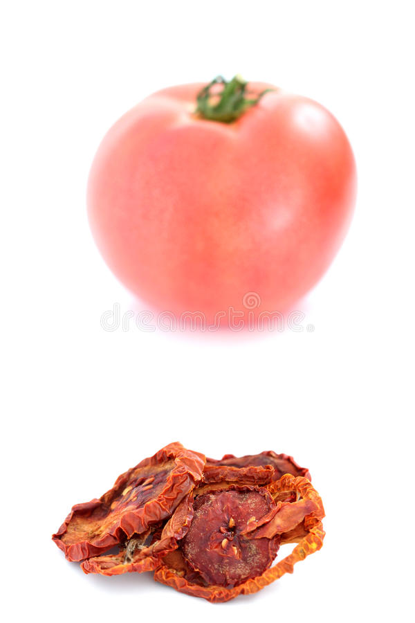Free Fresh And Dry Tomato On White Background. Royalty Free Stock Photography - 94182047