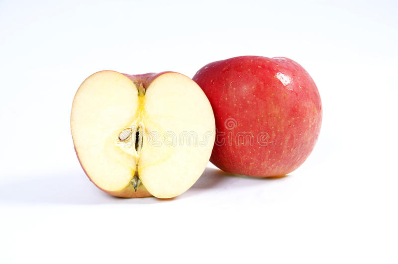 Fresh apple. Apple is on a white background stock photo