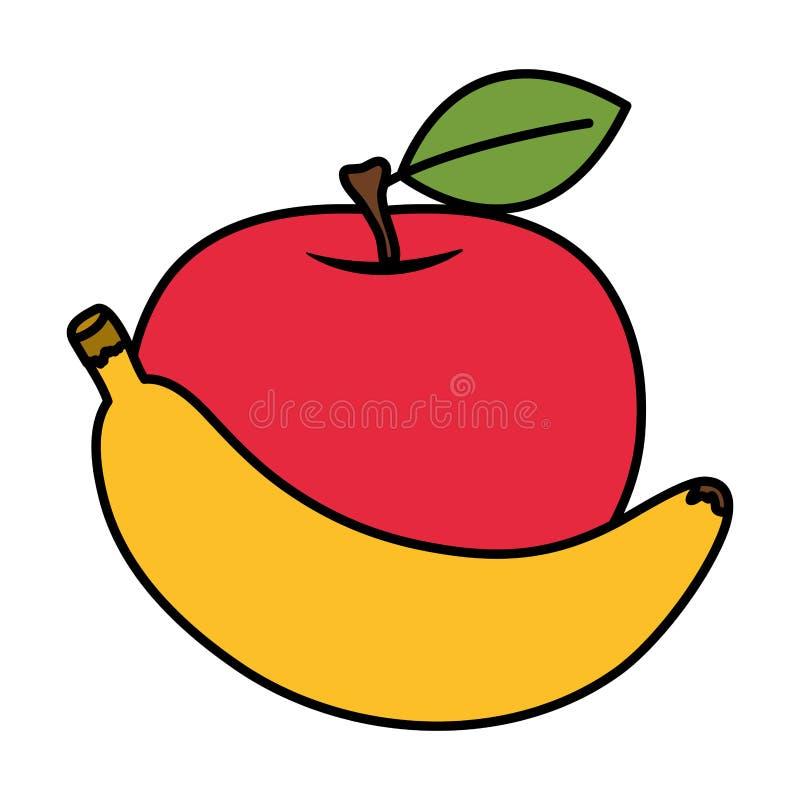 Free Fresh Apple And Banana Fruits Stock Image - 157206521
