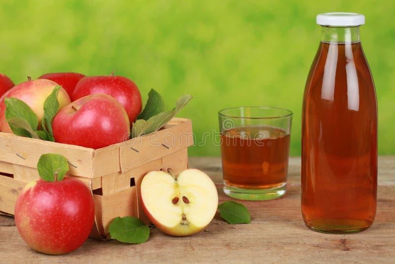 Fresh apple juice stock photo